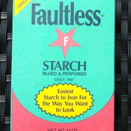 Faultless Starch Powder Box Blued & Perfumed 12 OZ