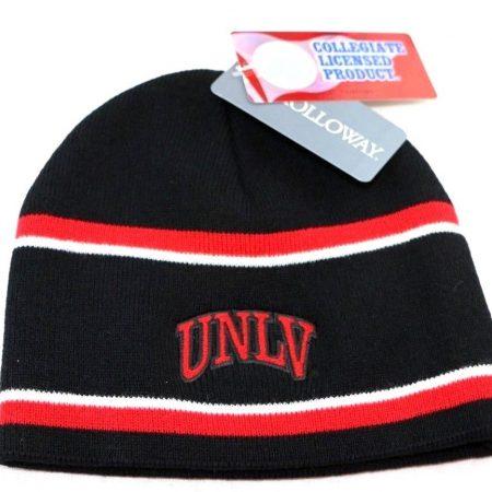 UNLV Rebels Beanie Hat, One Size, Black/Scarlet/White