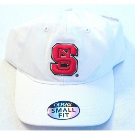 North Carolina State Wolfpack White Small Fit Adjustable Hat
