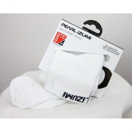 Pearl iZUMi Attack Low Bicycling Sock Cycling Multisport White Sock, Large