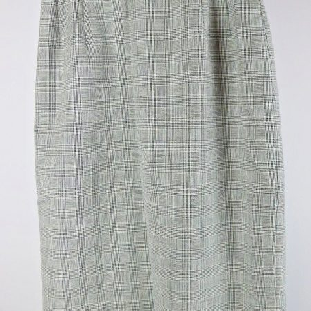 Pendleton Checks Lined Pencil Wool Skirt Size 4 (26″ Waist) Vintage