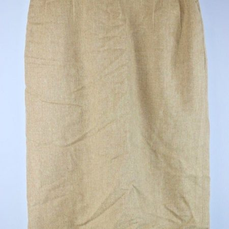 Pendleton Tan Lined Pencil Wool Skirt Size 2 (28″ Waist) Vintage