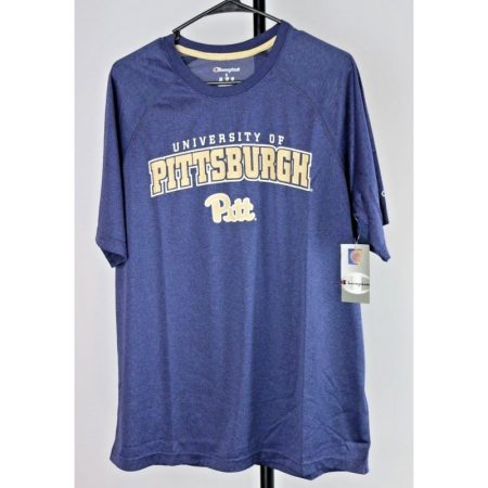 Pittsburgh Pitt Panthers Jersey T-Shirt, Size Large, Navy Heather