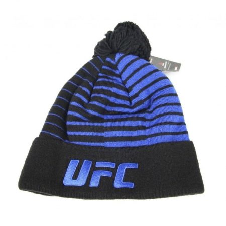 UFC Out of Stripes Cuffed Pom Knit Black Beanie Hat