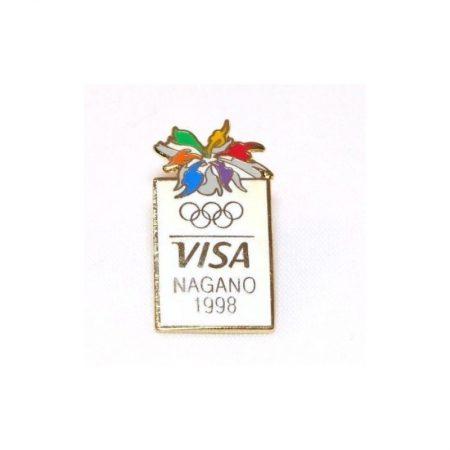 VISA Nagano 1998 Olympic Sponsor Lapel Pin